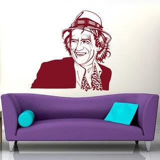 Decor Kafe Keith Richards Wall Sticker (37x37 Inch)