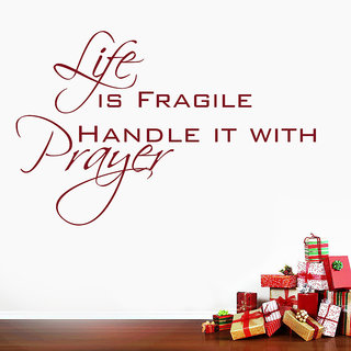 Decor Kafe Life Prayer Wall Decal (15x10 Inch)