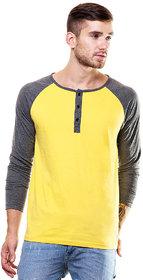 Enquotism Men's Blue Round Neck T-Shirt