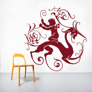 Decor Kafe Creative Abstract Design Wall Decal (37x38 Inch)