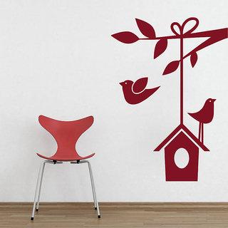 Decor Kafe Birds Wall Sticker (16x22 Inch)