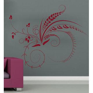 Decor Kafe Green Swirl Design Wall Decal (20x16 Inch)