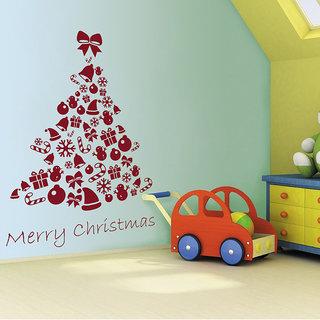 Decor Kafe Christmas Gifts Tree Wall Decal (21x30 Inch)