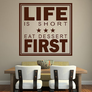 Decor Kafe Life First Wall Sticker (12x12 Inch)