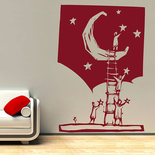 Decor Kafe Decorating The Sky Wall Sticker (20x30 Inch)