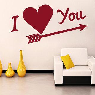 Decor Kafe Love You Wall Sticker (30x15 Inch)