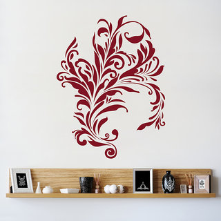 Decor Kafe Swirl Design Wall Decal (13x17 Inch)