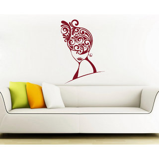 Decor Kafe Swirl Women Wall Sticker (30x44 Inch)