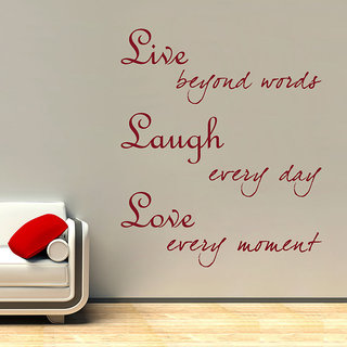 Decor Kafe Live Laugh Love Wall Decal (20x24 Inch)
