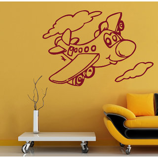 Decor Kafe Aeroplane Child Wall Decal (31x21 Inch)