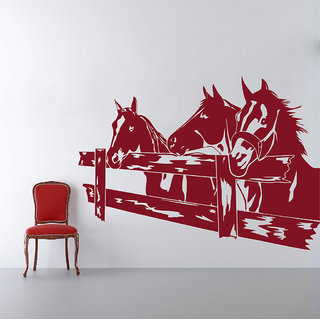 Decor Kafe Horses Corral Wall Decal (36x24 Inch)