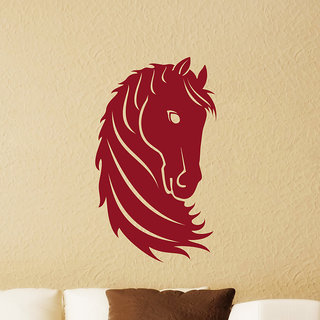 Decor Kafe Horse Head Wall Sticker (29x49 Inch)