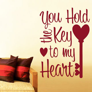 Decor Kafe Key To Heart Wall Decal (17x25 Inch)