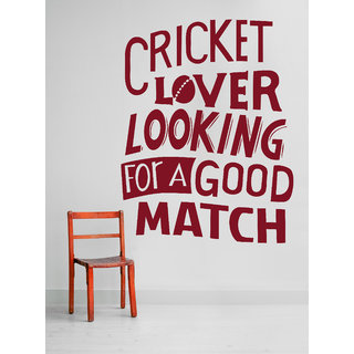 Decor Kafe Cricket Quote Wall Sticker 23x28 Inch)
