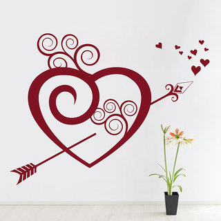 Decor Kafe Broken Heart Wall Sticker (22x17 Inch)