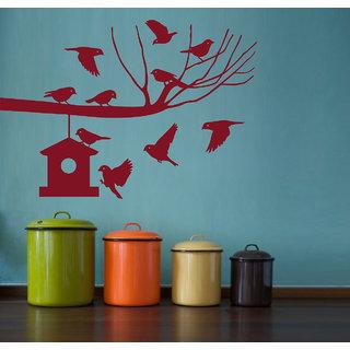 Decor Kafe Bird Nest Wall Sticker (44x30 Inch)