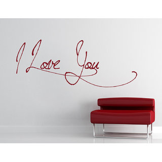 Decor Kafe I Love You Wall Sticker (23x9 Inch)