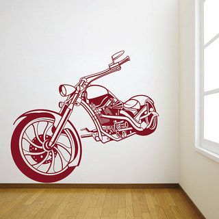 Decor Kafe Bike Wall Decal (28x25 Inch)