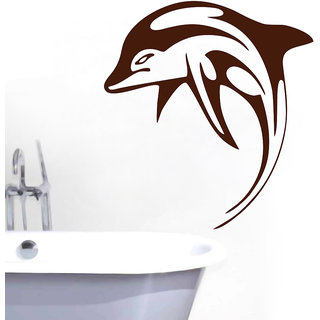 Decor Kafe Leaping Dophin Wall Sticker (22x25 Inch)