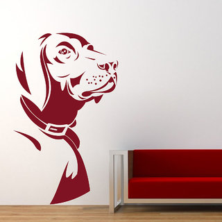 Decor Kafe Dog Wall Decal (13x22 Inch)