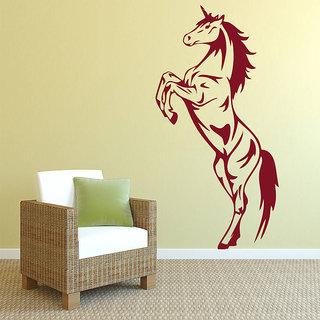Decor Kafe Horse Wall Sticker (18x36 Inch)