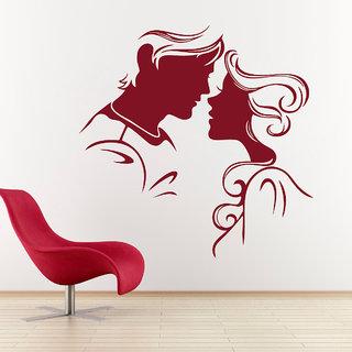 Decor Kafe Sweet Couple Wall Sticker (25x25 Inch)