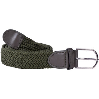 Modishera Casual Dark Green Stretchable Belt