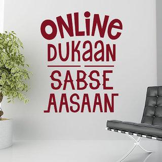 Decor Kafe Online Dukaan Quote Wall Sticker 23x28 Inch)
