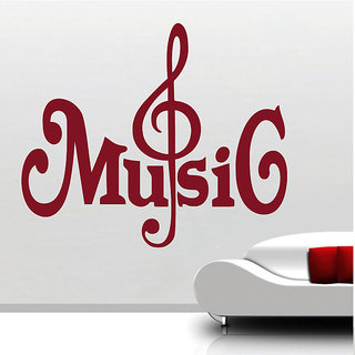 Decor Kafe Music Strings Wall Sticker (14x12 Inch)