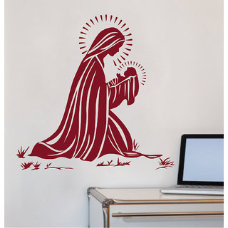 Decor Kafe Mother Mery Wall Sticker (20x21 Inch)