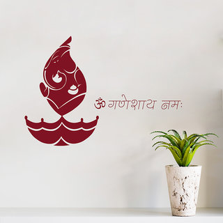 Decor Kafe Ganesh Ji Wall Decal (29x20 Inch)