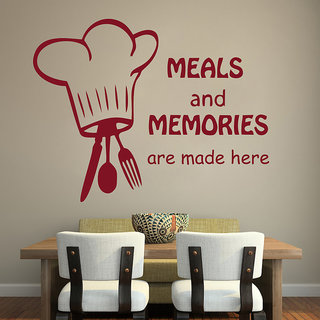 Decor Kafe Meals And Memories Wall Sticker (27x20 Inch)