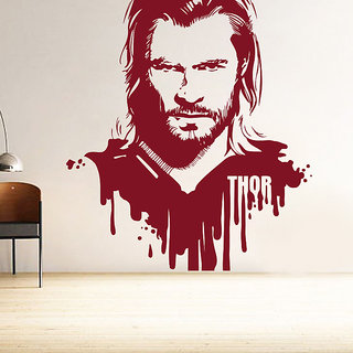 Decor Kafe Thor Wall Sticker (29x32 Inch)
