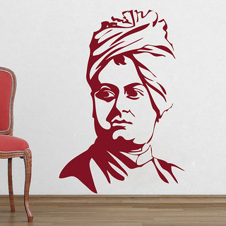 Decor Kafe Legend Swami Vivekanand Wall Decal (18x26 Inch)