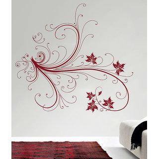 Decor Kafe Floral Branch Wall Sticker (25x24 Inch)