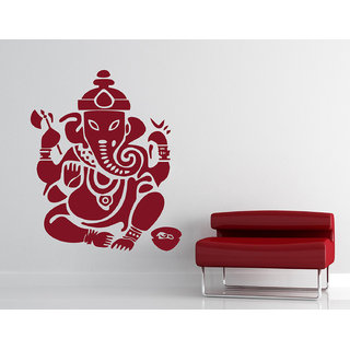 Decor Kafe Ganesha Wall Sticker (36x44 Inch)