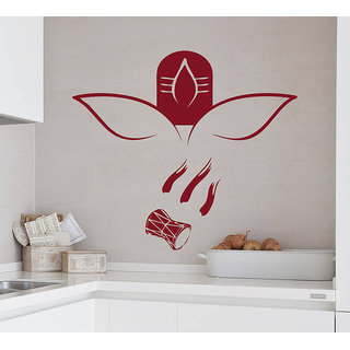 Decor Kafe Shiv Ji Wall Sticker (32x29 Inch)