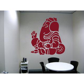 Decor Kafe Ganesha Wall Sticker (21x22 Inch)