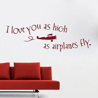 Decor Kafe Love Quote Wall Sticker 46x15 Inch)