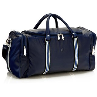 5122500b5 MBOSS Faux Leather Unisex Blue Travel Duffel Bag TB006BLUEMULTI available  at ShopClues for Rs.1859