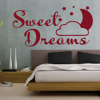 Decor Kafe Sweet Dream Wall Sticker 27x14 Inch)
