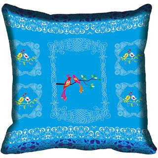 meSleep Nature Birds Digitally Printed Cushion Cover (16x16)
