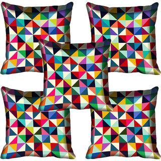 meSleep Geometric Digitally Printed Cushion Cover (16x16)