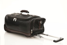 MBOSS Faux Leather Duffel Trolley Bag - STB006