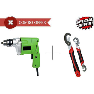 GBT New 10mm Powerful Drill Machine With Snap N Grip Wrench Set - DRLSNPG