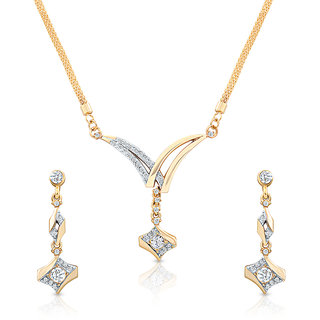 Oviya Gold Plated  Gold Pendants Chains For Women