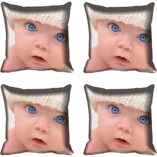 meSleep Kid Face Digitally Printed Cushion Cover (16x16)