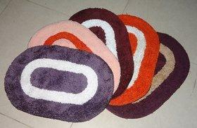 Arka Multicolour Handwoven Cotton Set of Door/Bedroom/Bathroom Mats (5 Psc Set)