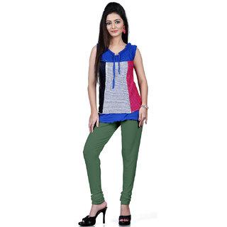 DesiButiks Light Green Coloured Cotton Lycra Leggings BBL1010