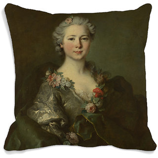 meSleep Lady Portrait 3D Cushion Cover (16x16)